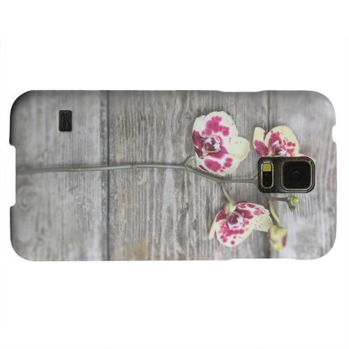 Geeks Designer Line (GDL) Samsung Galaxy S5 Matte Hard Back Cover - Orchid on Wood