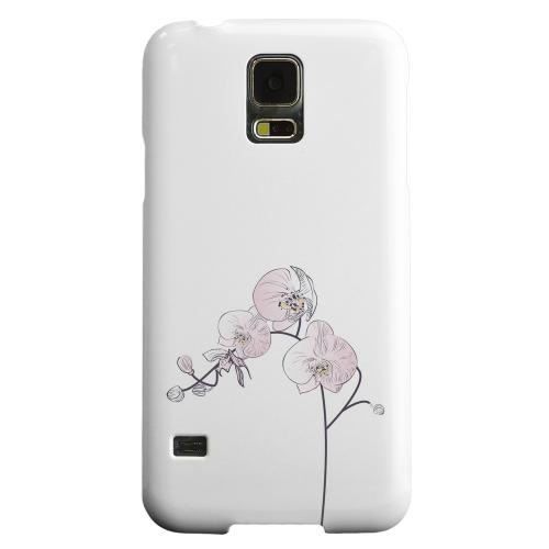 Geeks Designer Line (GDL) Samsung Galaxy S5 Matte Hard Back Cover - Lonely Orchid