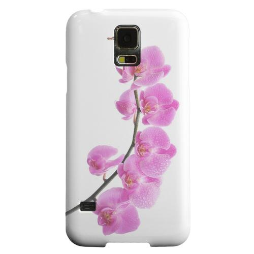 Geeks Designer Line (GDL) Samsung Galaxy S5 Matte Hard Back Cover - Hot Pink Orchid Curved Branch