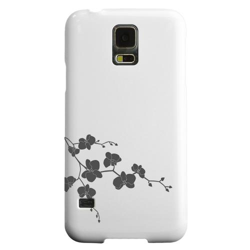 Geeks Designer Line (GDL) Samsung Galaxy S5 Matte Hard Back Cover - Clean Solid Black Orchid Art