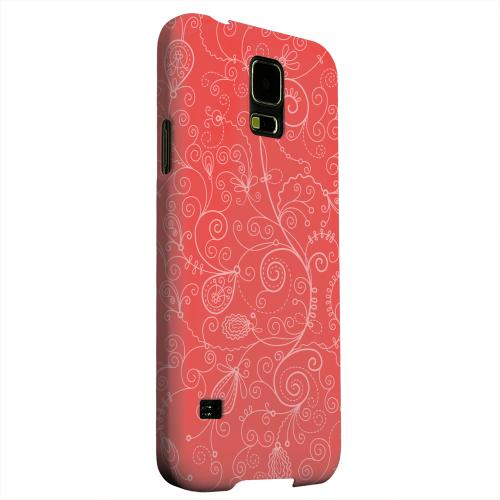 Geeks Designer Line (GDL) Samsung Galaxy S5 Matte Hard Back Cover - Floral 1 Poppy Red