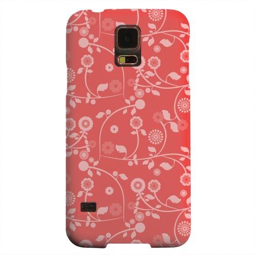 Geeks Designer Line (GDL) Samsung Galaxy S5 Matte Hard Back Cover - Floral 2 Poppy Red