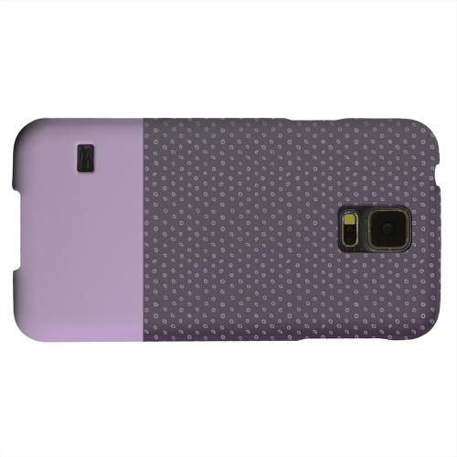 Geeks Designer Line (GDL) Samsung Galaxy S5 Matte Hard Back Cover - Little Circle Dots African Violet