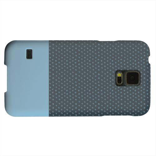 Geeks Designer Line (GDL) Samsung Galaxy S5 Matte Hard Back Cover - Little Circle Dots Dusk Blue