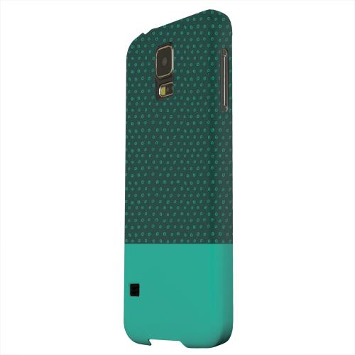 Geeks Designer Line (GDL) Samsung Galaxy S5 Matte Hard Back Cover - Little Circle Dots Emerald
