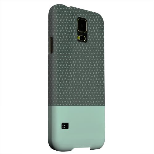 Geeks Designer Line (GDL) Samsung Galaxy S5 Matte Hard Back Cover - Little Circle Dots Grayed Jade