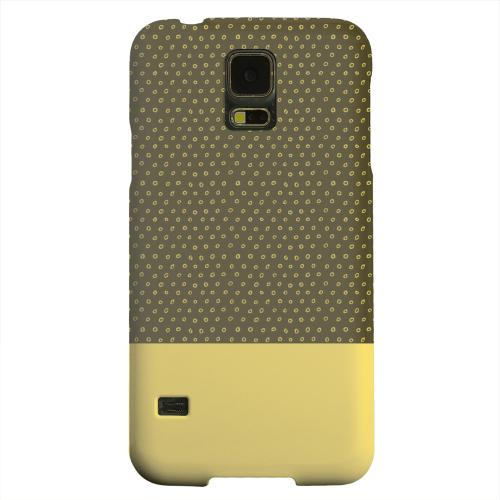 Geeks Designer Line (GDL) Samsung Galaxy S5 Matte Hard Back Cover - Little Circle Dots Lemon Zest