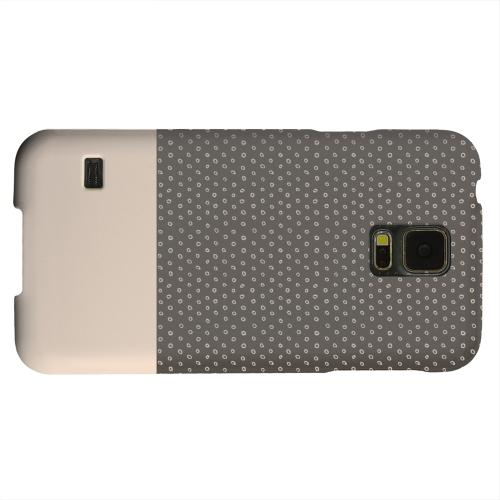 Geeks Designer Line (GDL) Samsung Galaxy S5 Matte Hard Back Cover - Little Circle Dots Linen