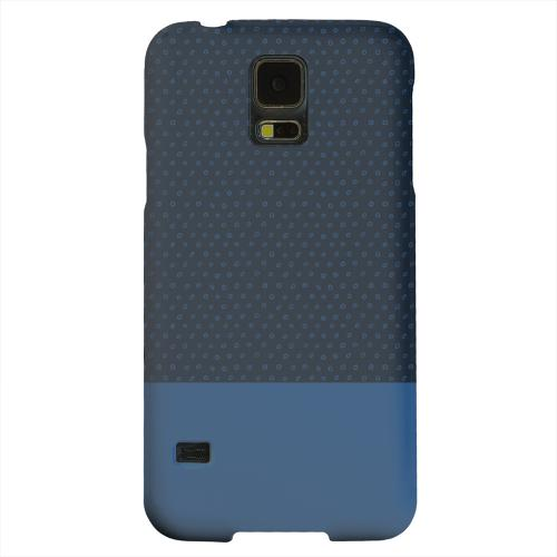 Geeks Designer Line (GDL) Samsung Galaxy S5 Matte Hard Back Cover - Little Circle Dots Monaco Blue