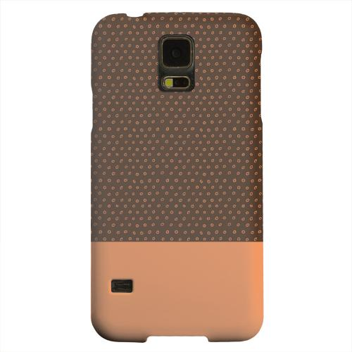 Geeks Designer Line (GDL) Samsung Galaxy S5 Matte Hard Back Cover - Little Circle Dots Nectarine