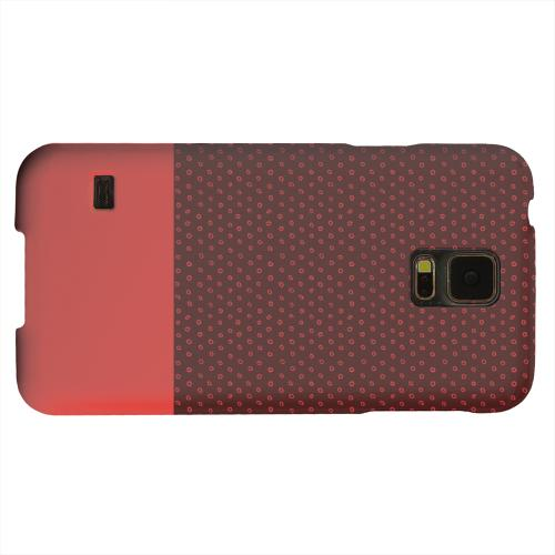 Geeks Designer Line (GDL) Samsung Galaxy S5 Matte Hard Back Cover - Little Circle Dots Poppy Red