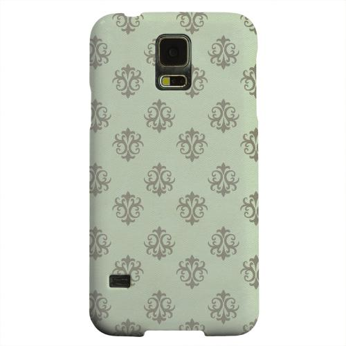 Geeks Designer Line (GDL) Samsung Galaxy S5 Matte Hard Back Cover - Ornamental Grayed Jade