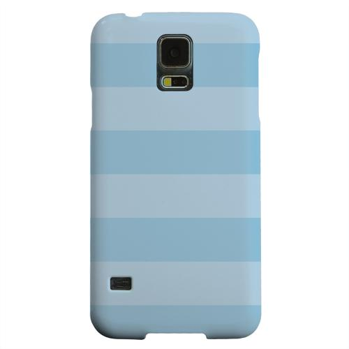 Geeks Designer Line (GDL) Samsung Galaxy S5 Matte Hard Back Cover - Stripes Dusk Blue
