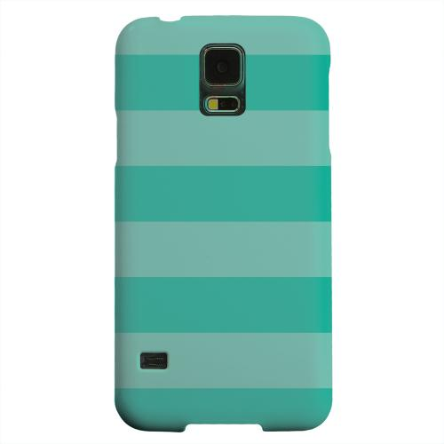 Geeks Designer Line (GDL) Samsung Galaxy S5 Matte Hard Back Cover - Stripes Emerald