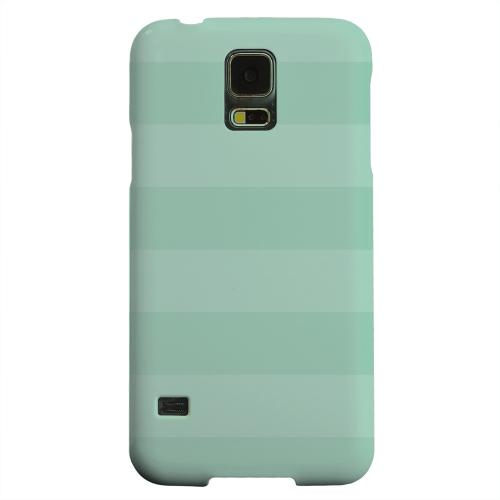 Geeks Designer Line (GDL) Samsung Galaxy S5 Matte Hard Back Cover - Stripes Grayed Jade