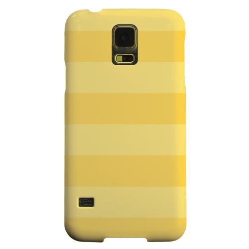 Geeks Designer Line (GDL) Samsung Galaxy S5 Matte Hard Back Cover - Stripes Lemon Zest