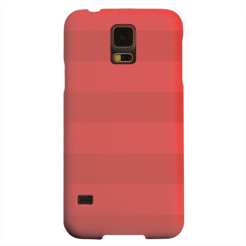 Geeks Designer Line (GDL) Samsung Galaxy S5 Matte Hard Back Cover - Stripes Poppy Red