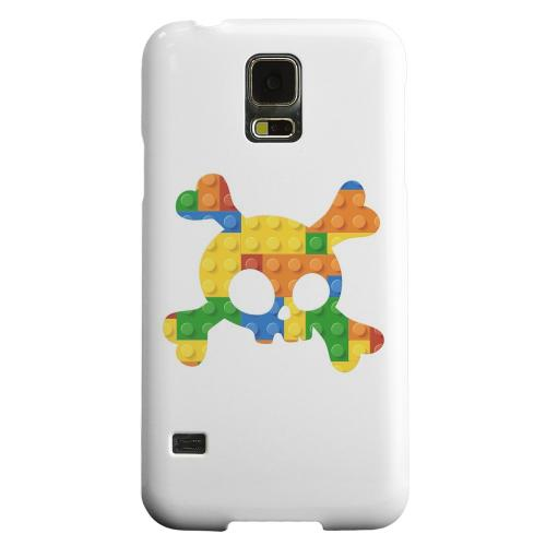 Geeks Designer Line (GDL) Samsung Galaxy S5 Matte Hard Back Cover - Blocks Crossbones