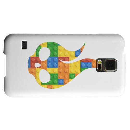 Geeks Designer Line (GDL) Samsung Galaxy S5 Matte Hard Back Cover - Blocks Flameskull