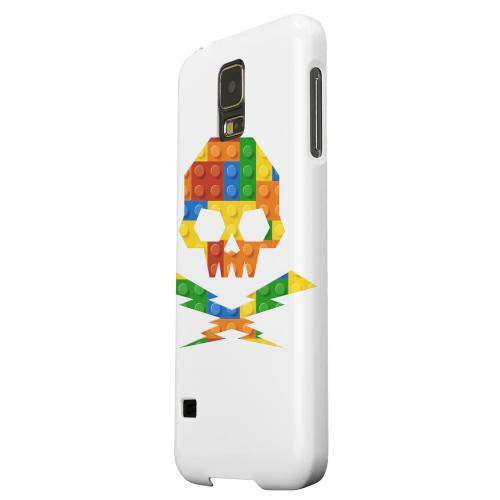 Geeks Designer Line (GDL) Samsung Galaxy S5 Matte Hard Back Cover - Blocks Skull Lightning Crossbones