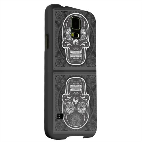 Geeks Designer Line (GDL) Samsung Galaxy S5 Matte Hard Back Cover - Domino Double Skull