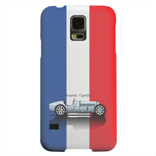Geeks Designer Line (GDL) Samsung Galaxy S5 Matte Hard Back Cover - Bugatti Type 35S on Blue/ White/ Red