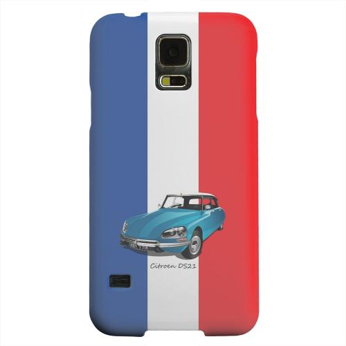 Geeks Designer Line (GDL) Samsung Galaxy S5 Matte Hard Back Cover - Citroen DS21 on Blue/ White/ Red
