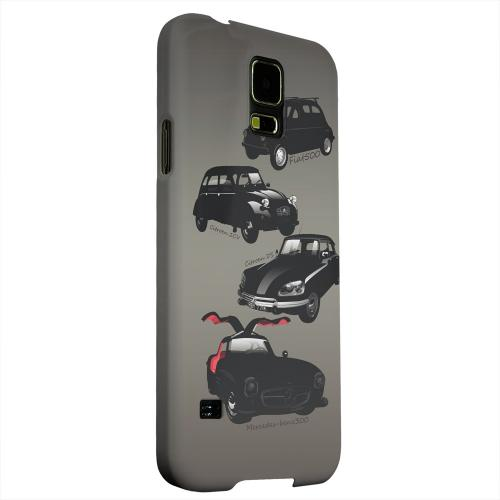 Geeks Designer Line (GDL) Samsung Galaxy S5 Matte Hard Back Cover - Classic Euro Cars Fade