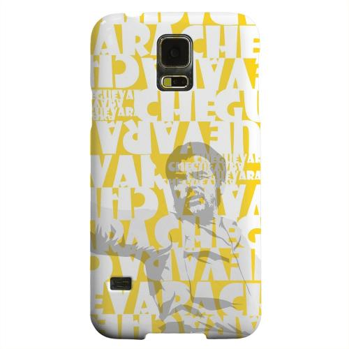 Geeks Designer Line (GDL) Samsung Galaxy S5 Matte Hard Back Cover - Che Guevara Discurso Faded Yellow