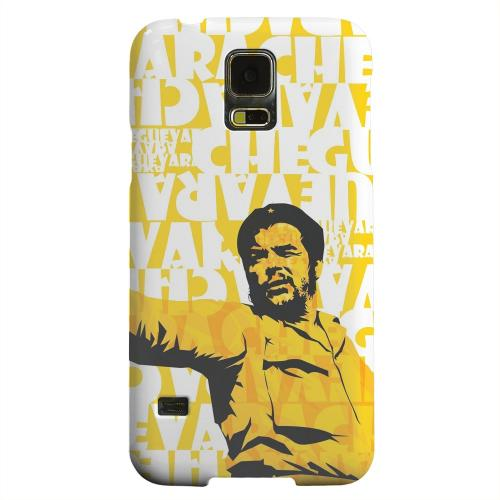 Geeks Designer Line (GDL) Samsung Galaxy S5 Matte Hard Back Cover - Che Guevara Discurso Pure Yellow