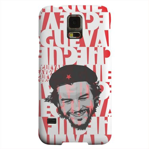 Geeks Designer Line (GDL) Samsung Galaxy S5 Matte Hard Back Cover - Che Guevara Happy Revolutionary on Red