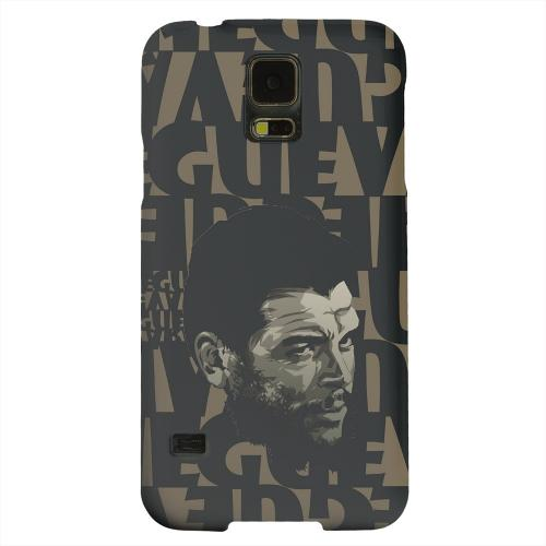 Geeks Designer Line (GDL) Samsung Galaxy S5 Matte Hard Back Cover - Che Guevara Serious Man on Brown