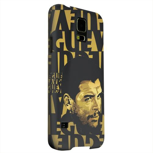 Geeks Designer Line (GDL) Samsung Galaxy S5 Matte Hard Back Cover - Che Guevara Serious Man on Gold