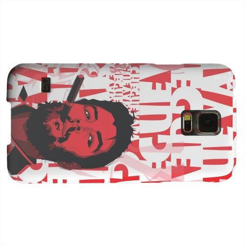 Geeks Designer Line (GDL) Samsung Galaxy S5 Matte Hard Back Cover - Che Guevara Smoke Red