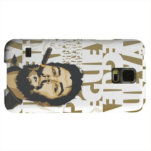 Geeks Designer Line (GDL) Samsung Galaxy S5 Matte Hard Back Cover - Che Guevara Smoke White Letters