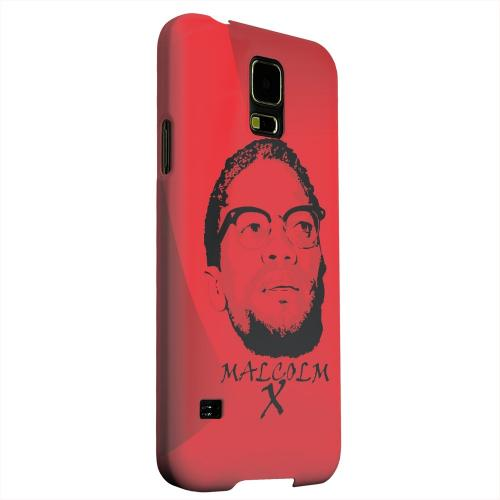 Geeks Designer Line (GDL) Samsung Galaxy S5 Matte Hard Back Cover - Malcolm X in the Middle on Red