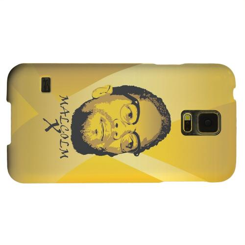 Geeks Designer Line (GDL) Samsung Galaxy S5 Matte Hard Back Cover - Malcolm X in the Middle on Yellow