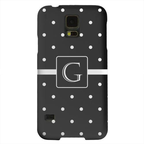 Geeks Designer Line (GDL) Samsung Galaxy S5 Matte Hard Back Cover - Monogram G on Classic Mini Polka Dots