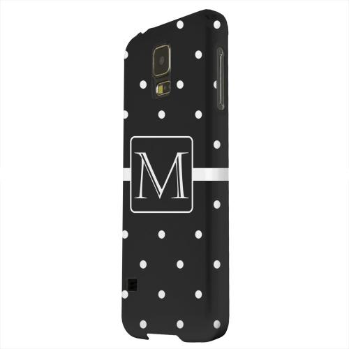 Geeks Designer Line (GDL) Samsung Galaxy S5 Matte Hard Back Cover - Monogram M on Classic Mini Polka Dots
