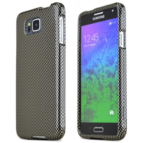 Samsung Galaxy Alpha Protective Slim Hard Case Cover [Carbon Fiber Design] [Ultra Slim and Perfect Fitting Samsung Galaxy Alpha Case]