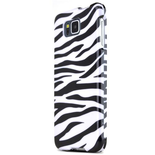 Samsung Galaxy Alpha Protective Slim Hard Case Cover [Zebra Design] [Ultra Slim and Perfect Fitting Samsung Galaxy Alpha Case]