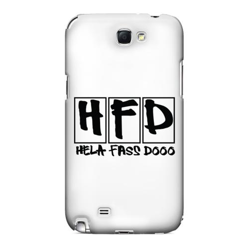 HFD Logo Hard Plastic Case for Samsung Galaxy Note 2