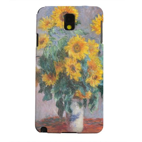 Geeks Designer Line (GDL) Samsung Galaxy Note 3 Matte Hard Back Cover - Claude Monet Bouquet of Sunflowers