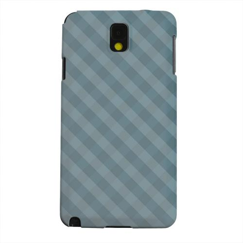 Geeks Designer Line (GDL) Samsung Galaxy Note 3 Matte Hard Back Cover - Blue/ Green/ White/ Gray Plaid