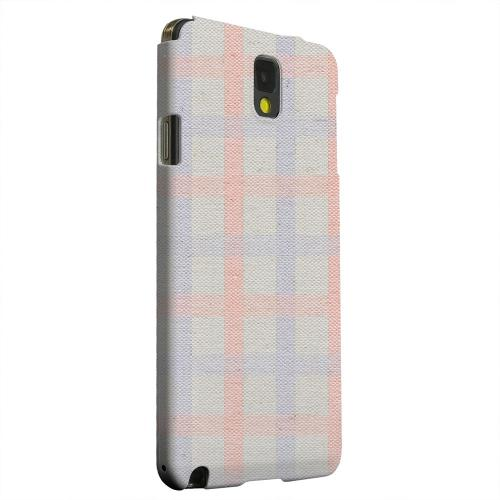 Geeks Designer Line (GDL) Samsung Galaxy Note 3 Matte Hard Back Cover - Faint Red/ Blue/ Gray Plaid
