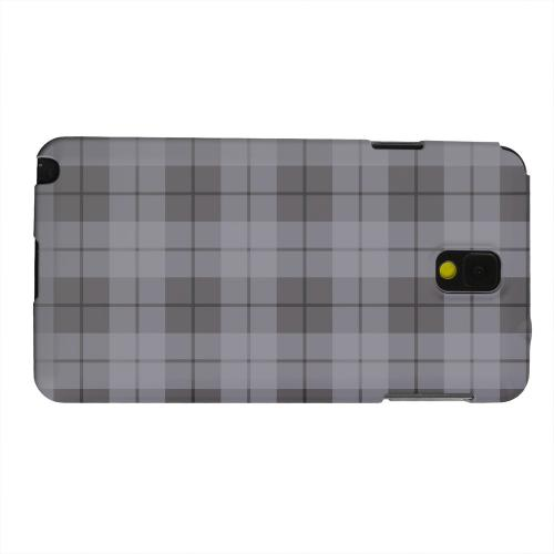 Geeks Designer Line (GDL) Samsung Galaxy Note 3 Matte Hard Back Cover - Grayish Plaid