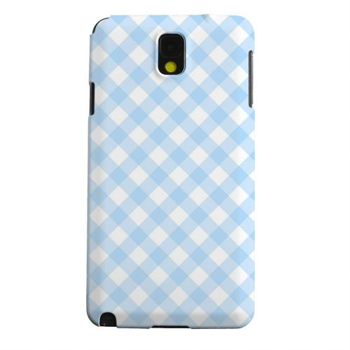 Geeks Designer Line (GDL) Samsung Galaxy Note 3 Matte Hard Back Cover - Light Blue Plaid