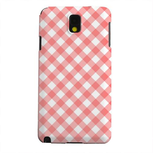 Geeks Designer Line (GDL) Samsung Galaxy Note 3 Matte Hard Back Cover - Light Red Plaid