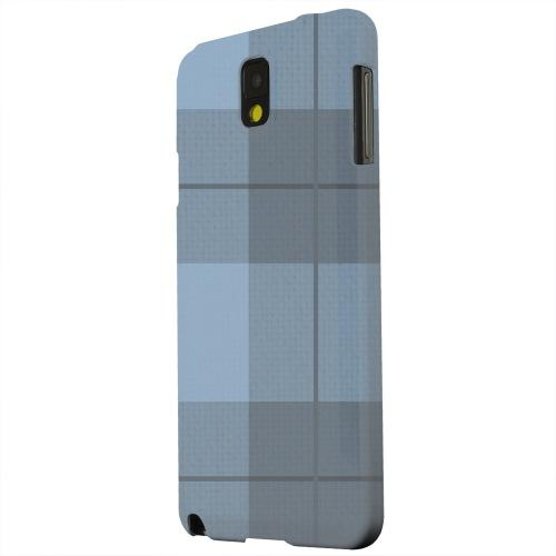 Geeks Designer Line (GDL) Samsung Galaxy Note 3 Matte Hard Back Cover - Off-Centered Zoom Blue Plaid