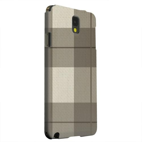 Geeks Designer Line (GDL) Samsung Galaxy Note 3 Matte Hard Back Cover - Off-Centered Zoom Brown Plaid